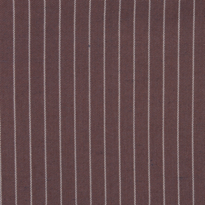 italian brown white pin striped cotton suiting fc12949 11