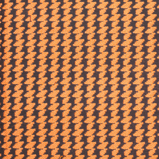 italian burnt orange black double faced wool poly coating 306853 11