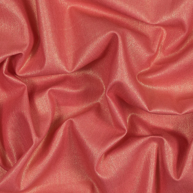 italian coral stretch denim with metallic gold laminate 316314 11