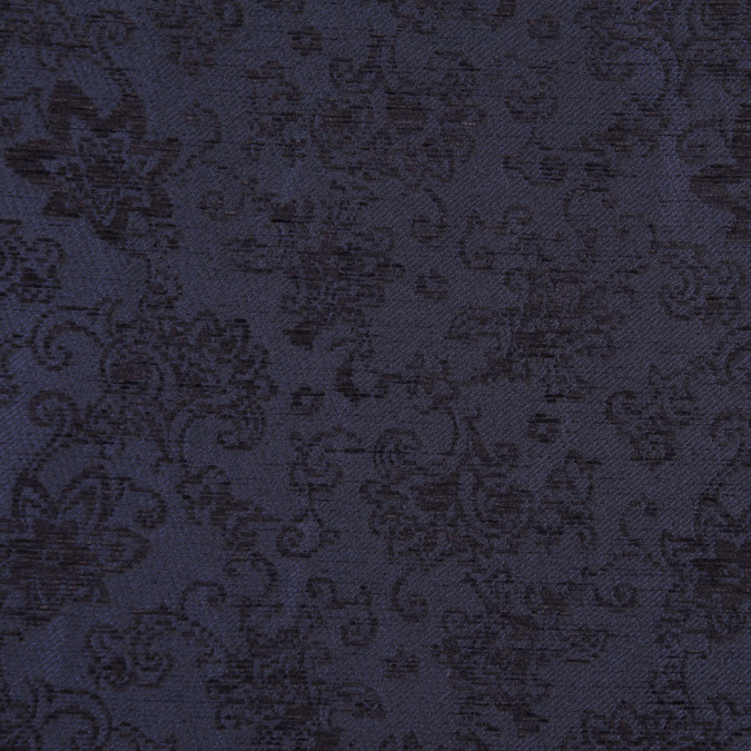 italian dark navy floral rayon and polyester chenille fp19638 11