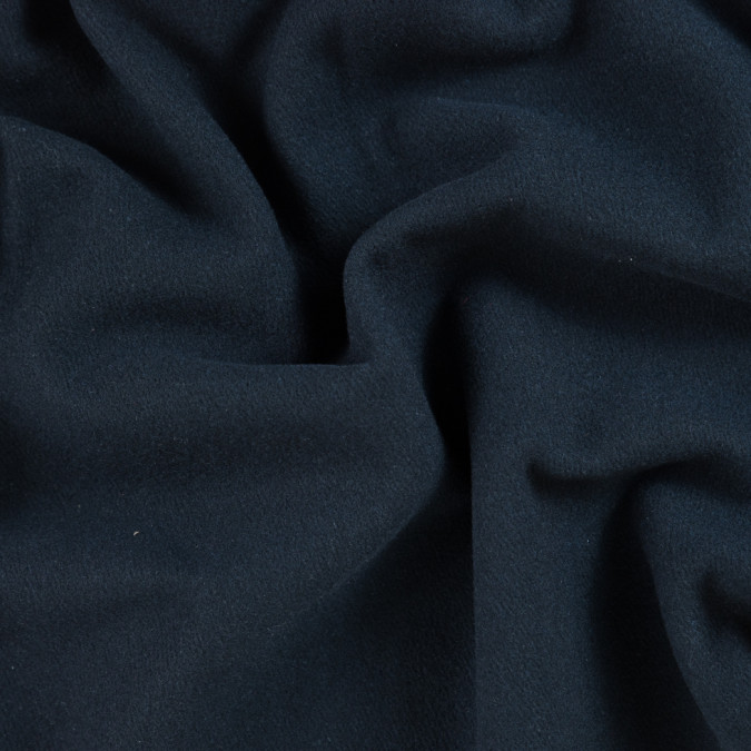 italian dark navy wool twill coating 310074 11