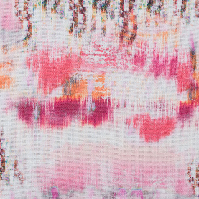 italian fuchsia and orange abstract digitally printed canvas 316732 11