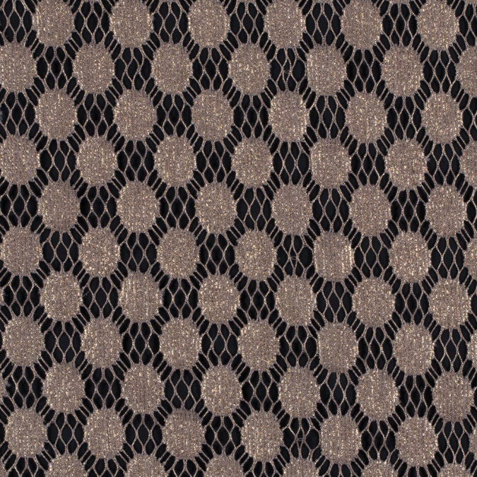 italian gold dotted netting with metallic laminate 312076 11