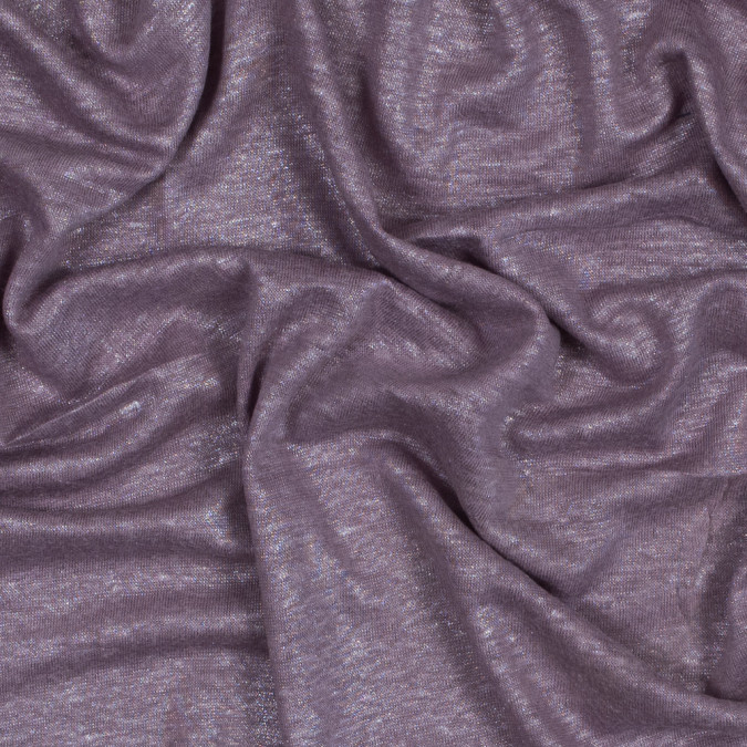 italian grape shake linen knit with a silver metallic laminate 316308 11