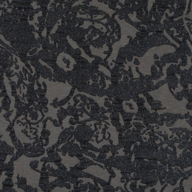 italian gray stretch jersey with abstract metallic glimmer 316514 11