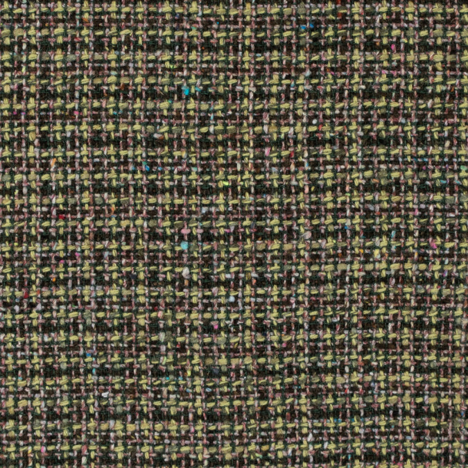 italian green and pink wool tweed 312237 11