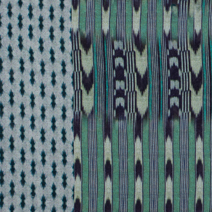 italian green and purple ikat printed cotton jacquard 316371 11