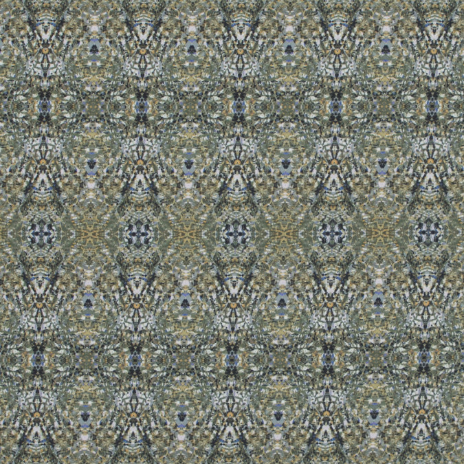 italian olivine kaleidoscopic digitally printed stretch polyester 317466 11