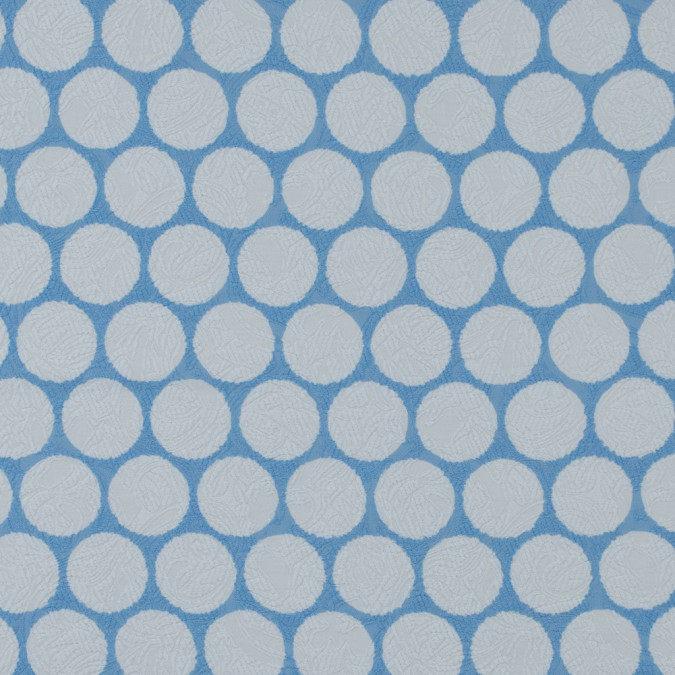 italian periwinkle polka dotted cotton jacquard 316373 11