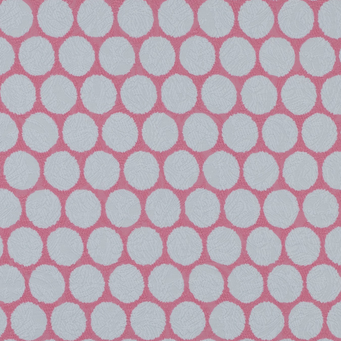 italian pink polka dotted cotton jacquard 316357 11