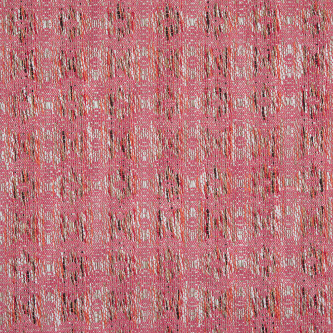 italian pink white taupe abstract cotton jacquard 310500 11