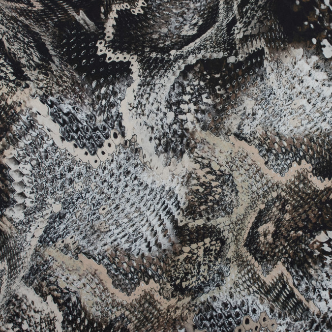 italian taupe abstract reptilian polyester twill 316363 11