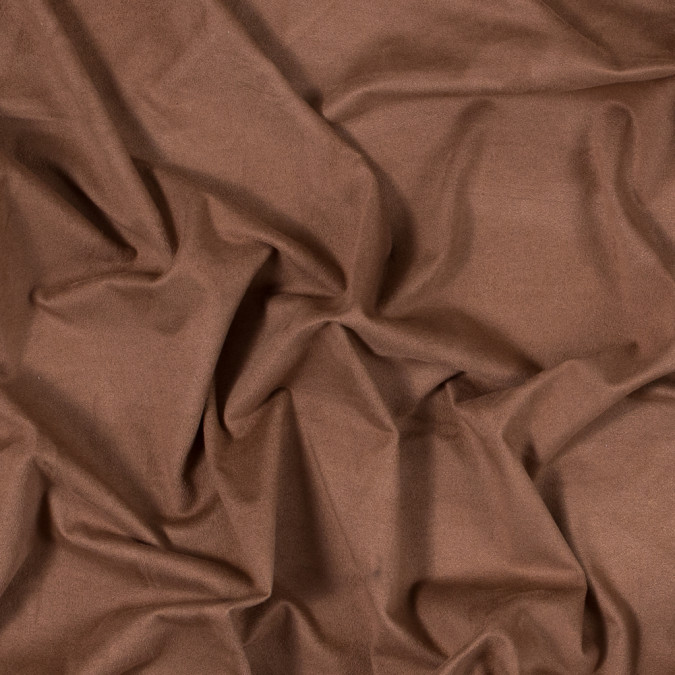 italian tobacco brown lightweight stretch faux suede 312045 11