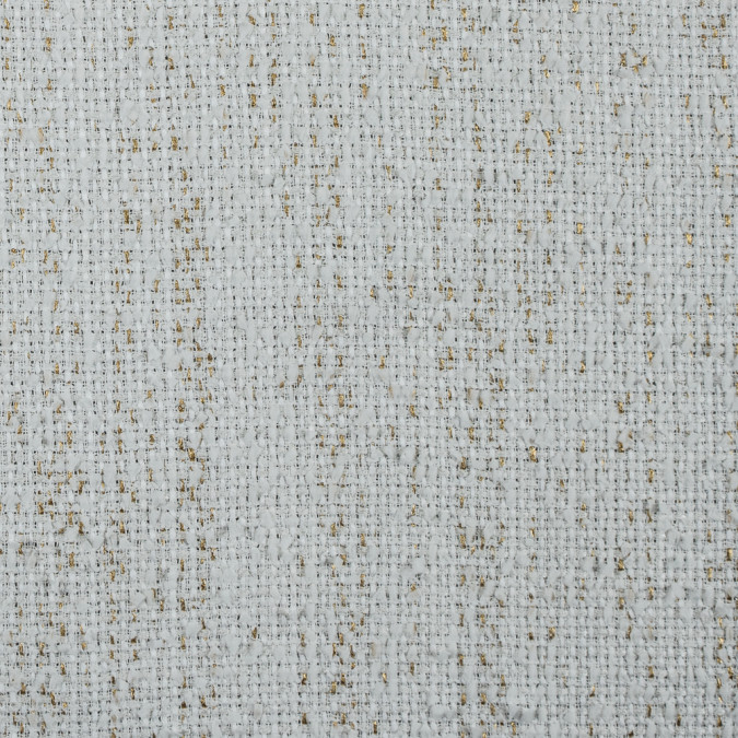 italian white metallic gold cotton polyeseter tweed 311570 11
