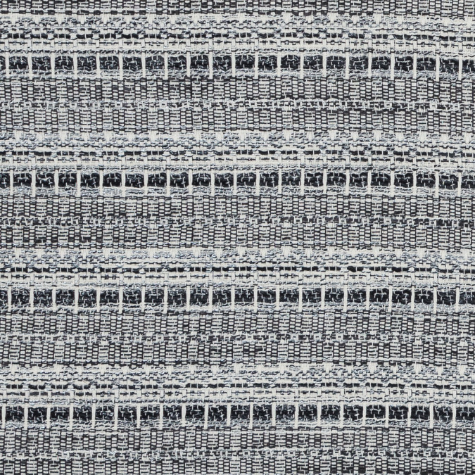 ivory black and silver striped cotton tweed 318420 11