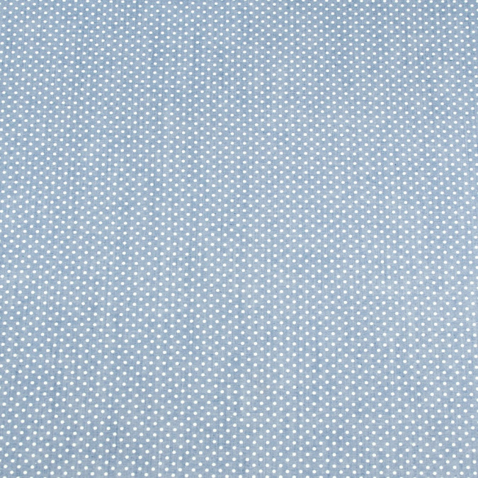 jay blue polka dotted stretch cotton polyester chambray 308270 11