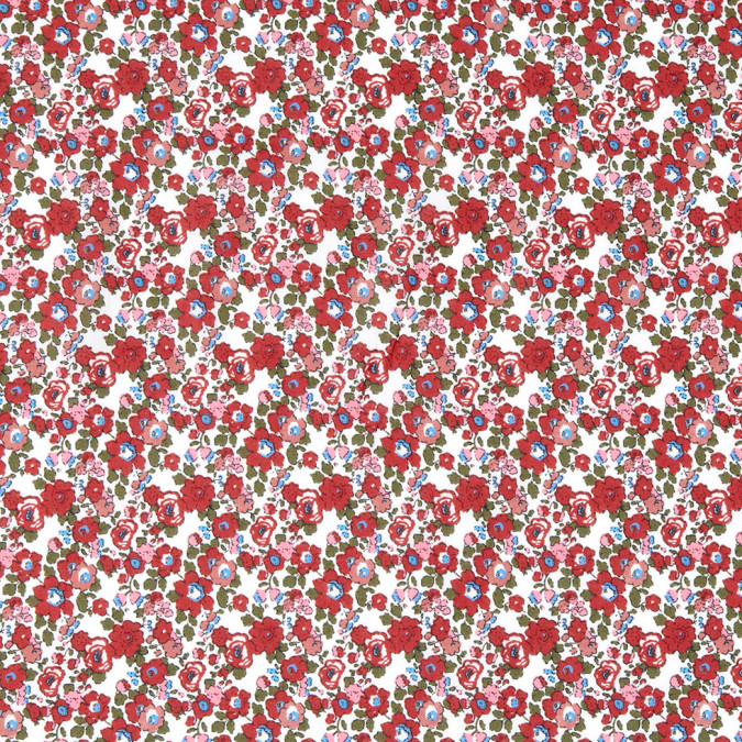 jester red floral combed cotton voile 308410 11