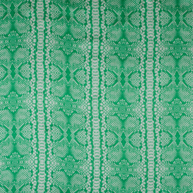 kelly green and white python printed silk charmeuse 315724 11
