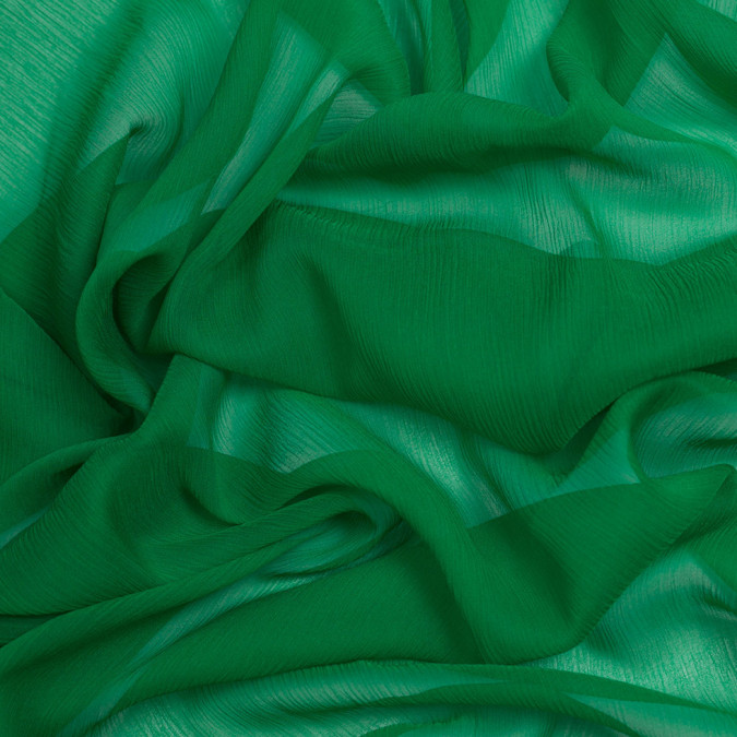 kelly green silk crinkled chiffon pv5100 197 11