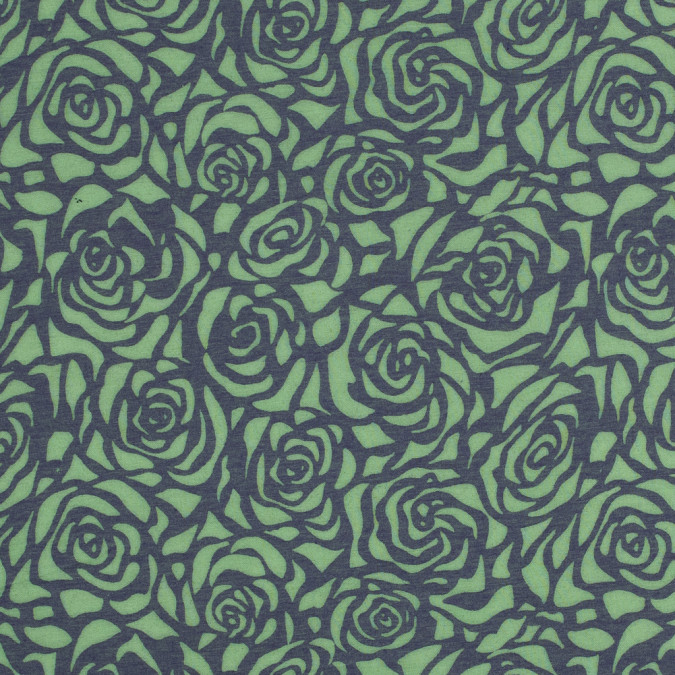 leafy green and purple rose burnout jersey 316451 11
