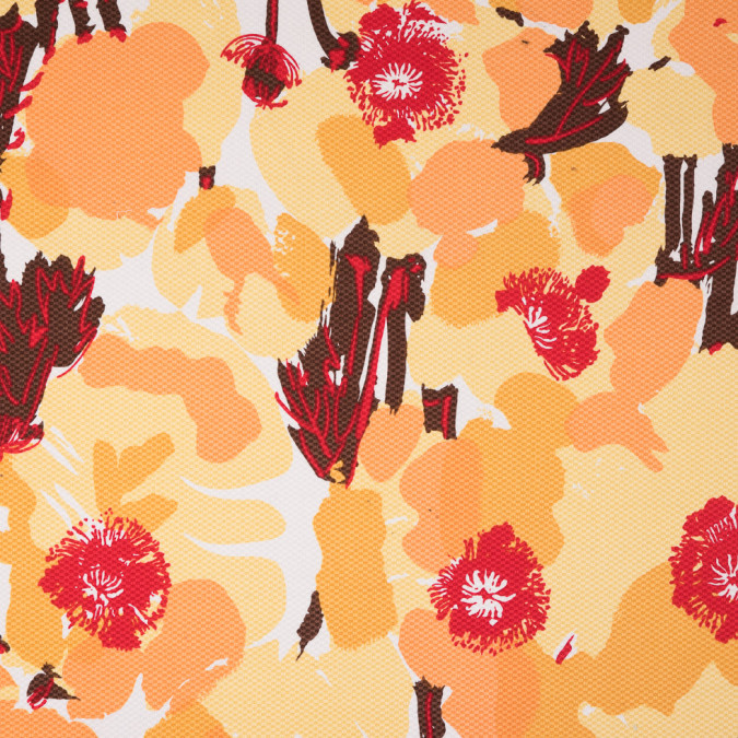lemon drop pale marigold red abstract stretch riviera pique 310955 11