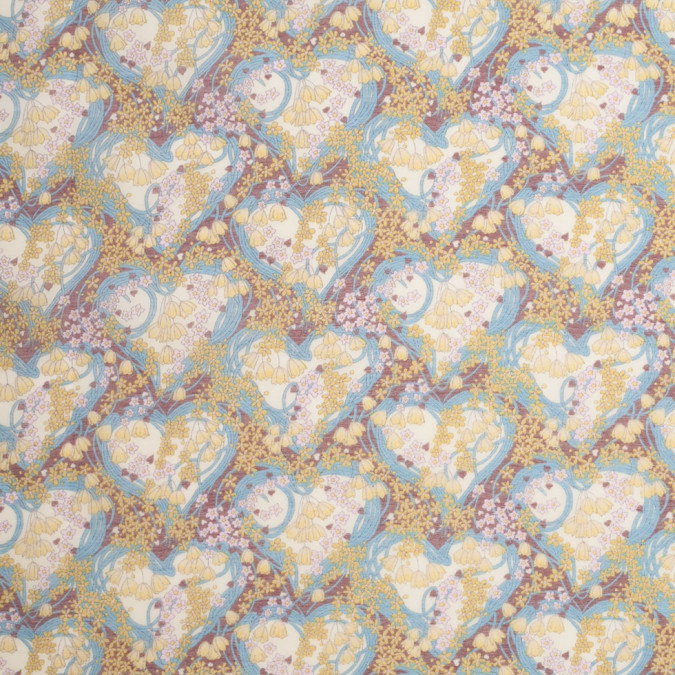 liberty of london amy jane blue yellow silk cotton voile 307533 11