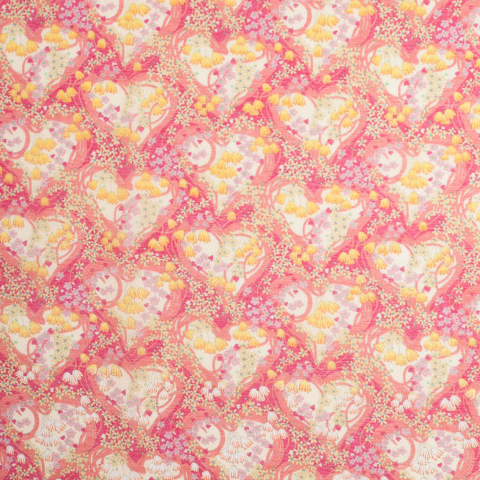 liberty of london amy jane pink yellow silk cotton voile 307513 11
