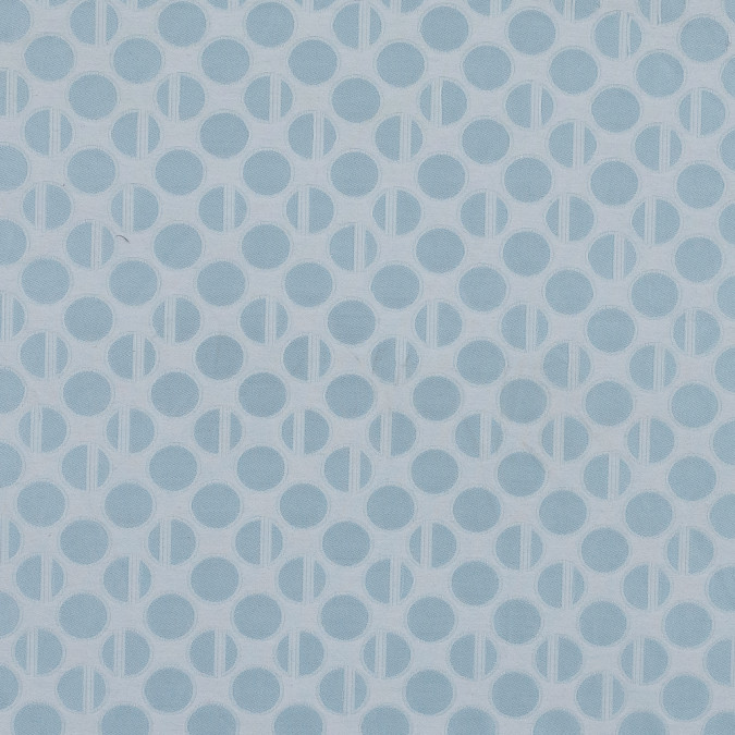 light blue and white polka dotted jacquard 319649 11