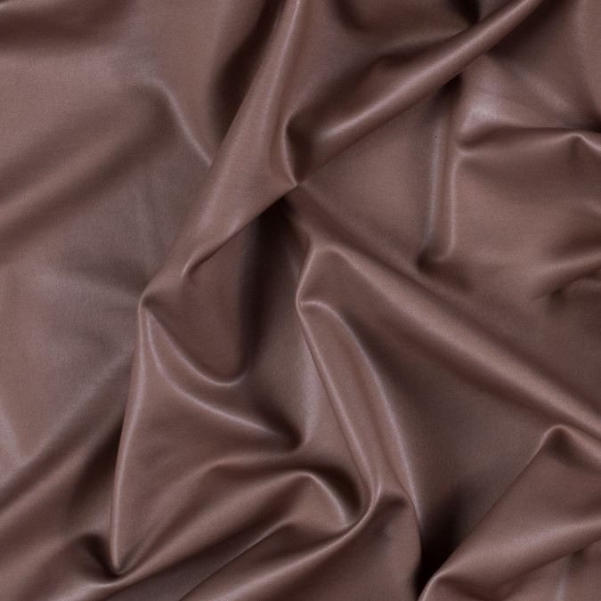 light chocolate dull all over foil knit pleather substitute 311401 11