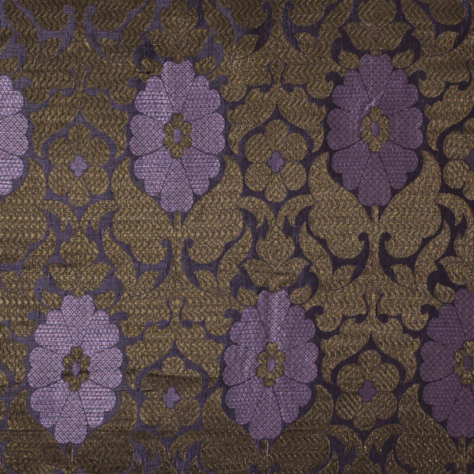 lilac and metallic gold geometric floral jacquard 318326 11