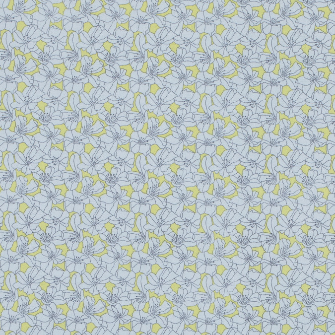 limelight and white floral printed cotton poplin 117298 11