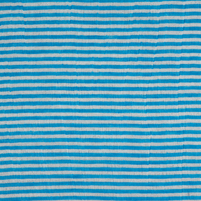 malibu blue white candy striped crinkled organdy 310891 11