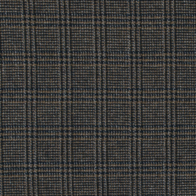 maritime blue and ochre glen plaid polyester tweed 315896 11
