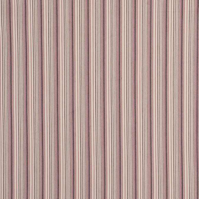 maroon dirty beige black barcode striped stretch cotton twill fc13123 11