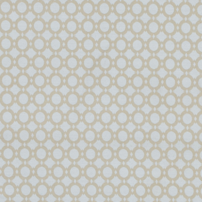marzipan and white geometric stretch cotton jacquard 314224 11