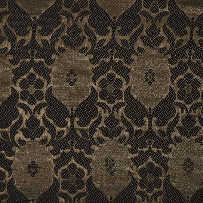 metalic gold and black geometric floral jacquard 318325 11