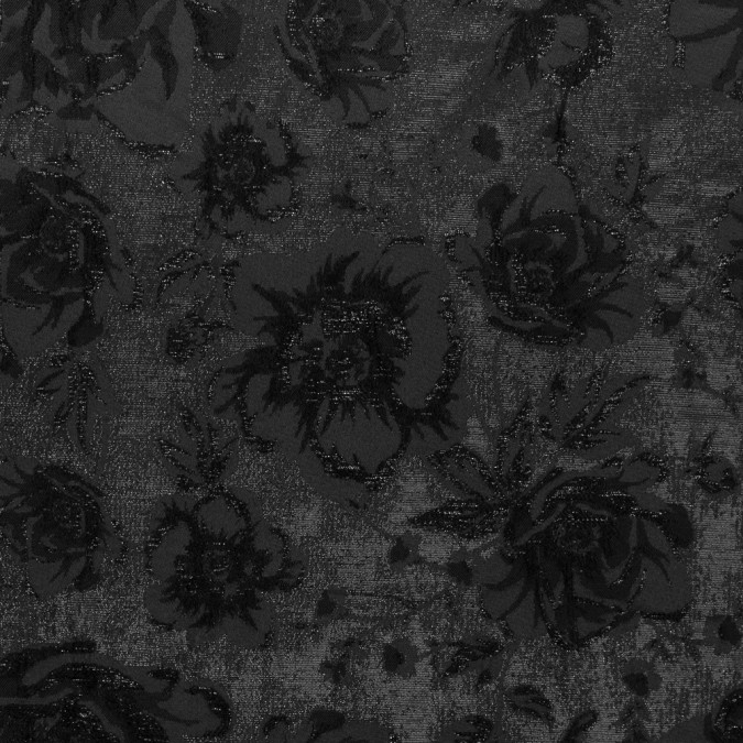 metallic black on black floral brocade 316272 11