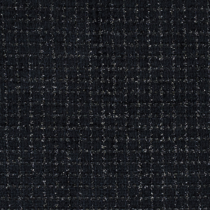 metallic black on black polyester tweed 315192 11