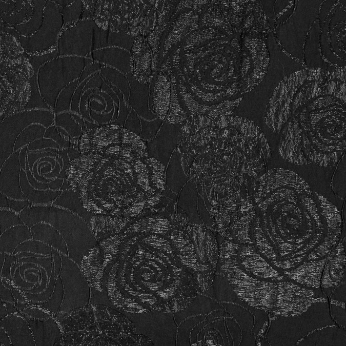 metallic black on black rose brocade 315325 11