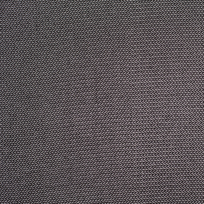 metallic black zig zag polyester nylon raschel knit 305107 11
