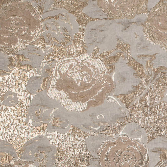 metallic gold beige and ivory rose jacquard 318165 11
