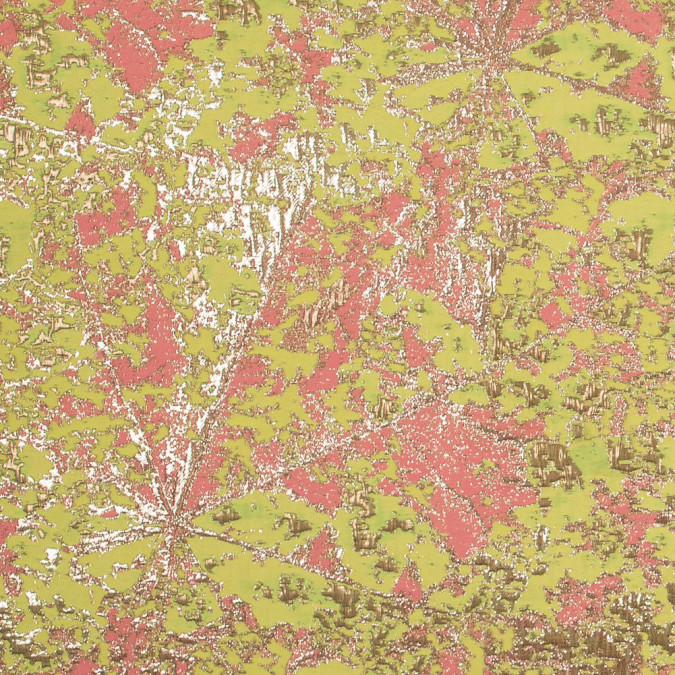 metallic gold neon pink and neon yellow abstract jacquard 318158 11