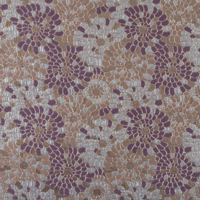 metallic gold valerian purple and cream tan floral brocade 315321 11