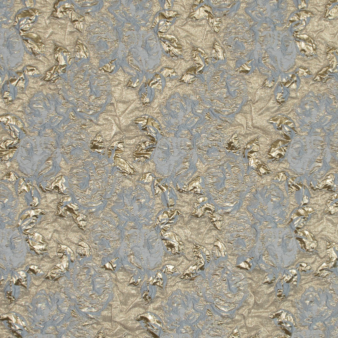 metallic gold and gray rose brocade 118962 11
