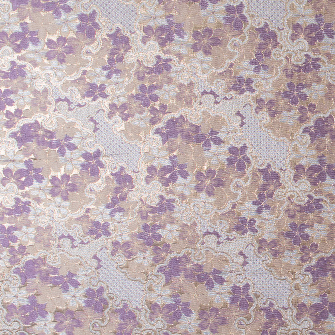 metallic gold and lavender floral brocade 316382 11