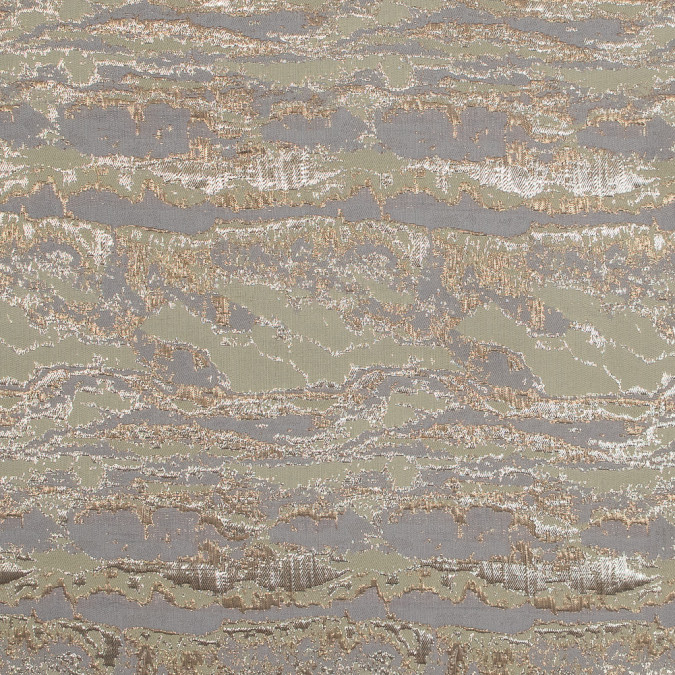 metallic gold and pea green abstract jacquard 318162 11