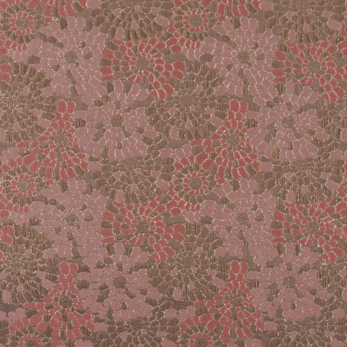 metallic gold and rosette pink floral brocade 315323 11