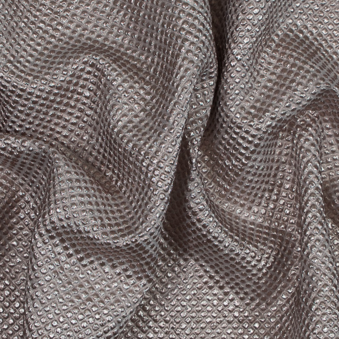 metallic pink diamond quilted brocade 118974 11