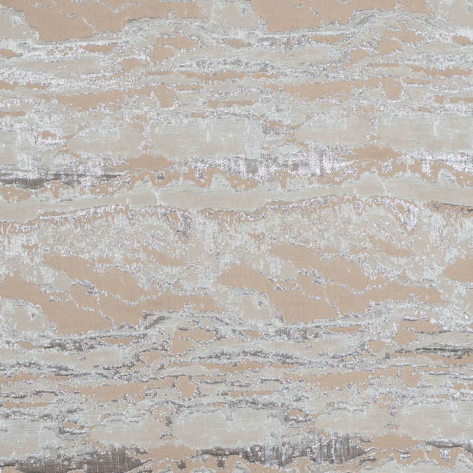 metallic silver and beige abstract jacquard 318164 11