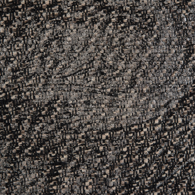metallic silver black frozen dew wool tweed 310927 11